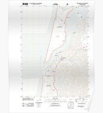 USGS Topo Map Oregon Winchester Bay 20110808 TM Poster