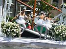 dancing on white boat by LisaBeth