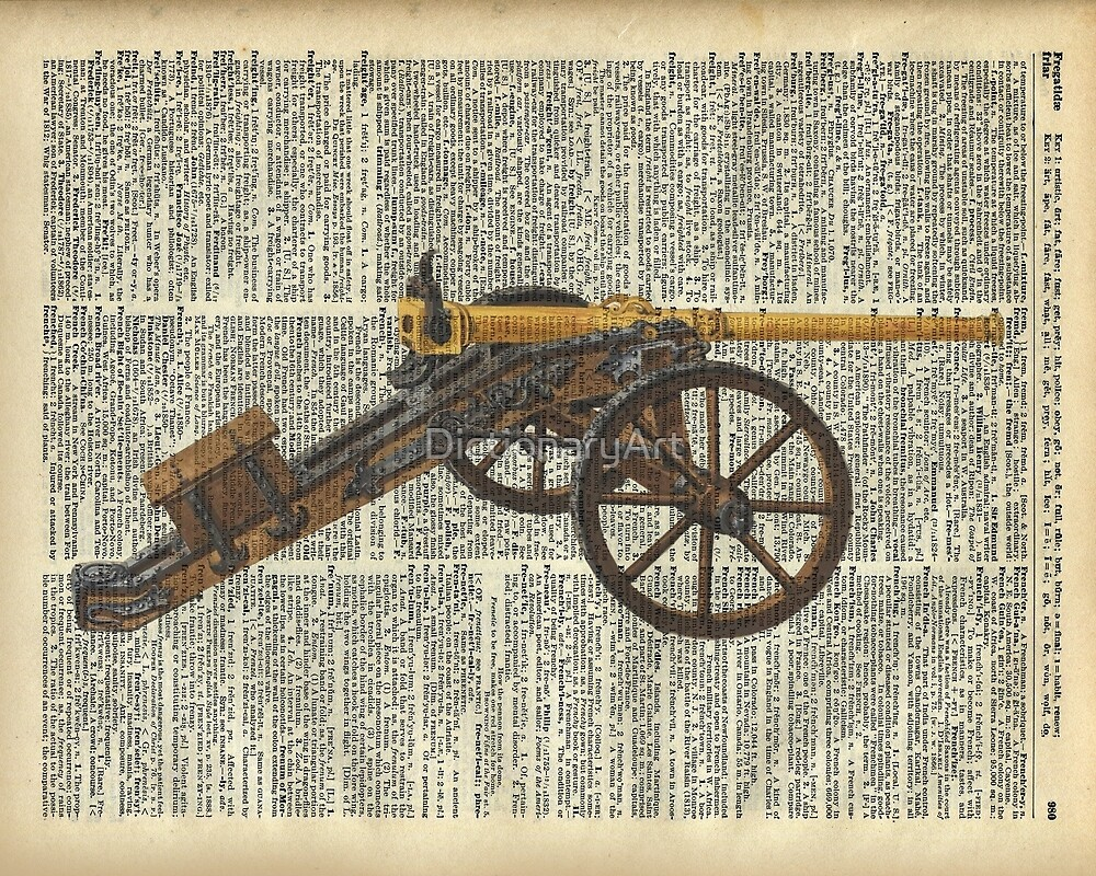 Old canon Dictionary Art by DictionaryArt