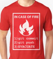 commit, push, EVACUATE Unisex T-Shirt