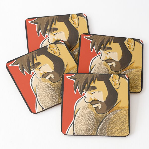ADAM PORTRAIT Coasters (Set of 4)