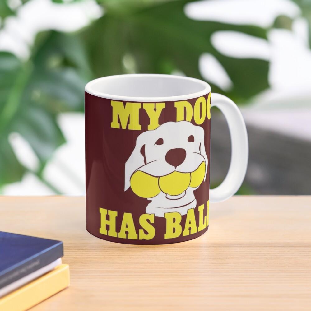 My Dog Has Balls | Labrador or Golden Retriever | NickerStickers on Redbubble Mug