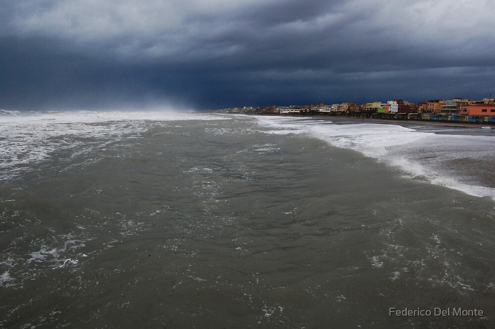 Stretch of land in the storm by Federico Del Monte