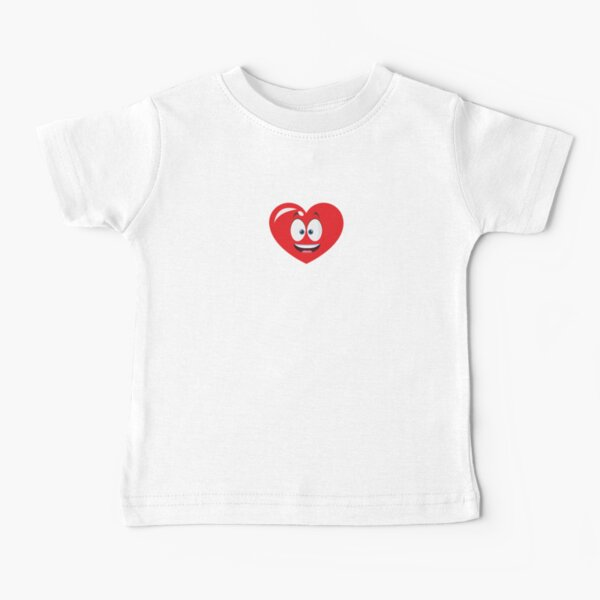 Smiling red heart Baby T-Shirt