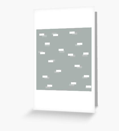 Geometric blocks seamless pattern Greeting Card