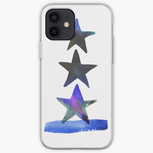 Stars Abstract Watercolor Painting  iPhone Soft Case