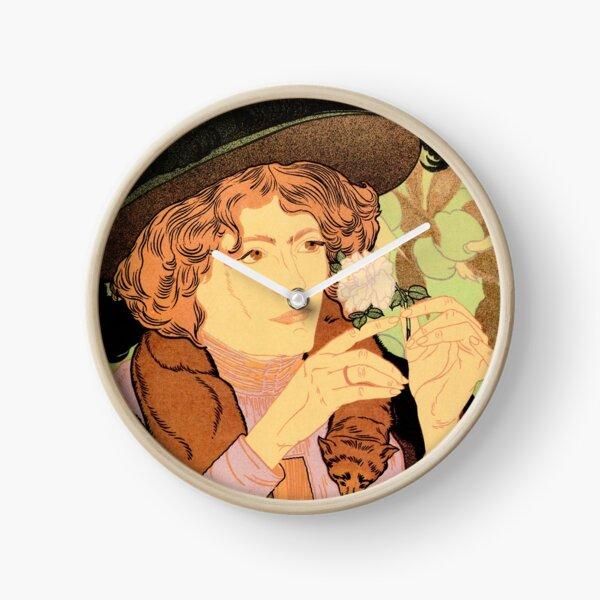 SALON DES CENT Vintage Arts Exhibition France 31 Rue Bonaparte Poster Clock