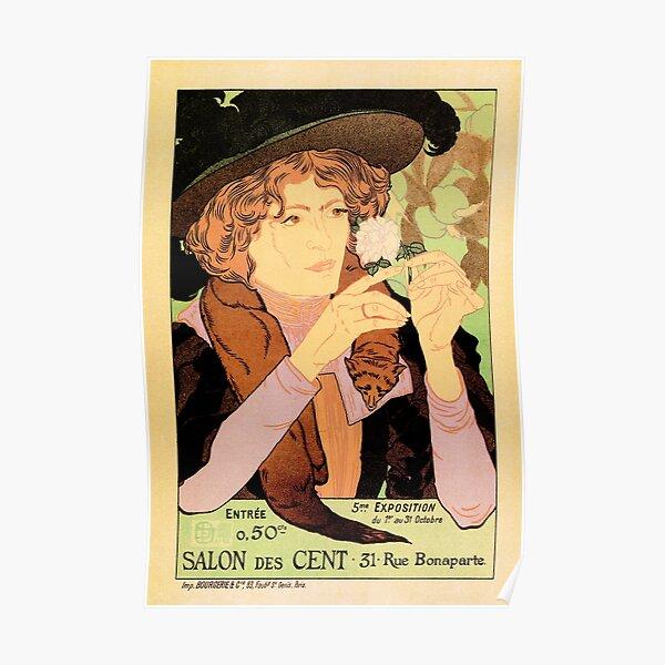 SALON DES CENT Vintage Arts Exhibition France 31 Rue Bonaparte Poster Poster