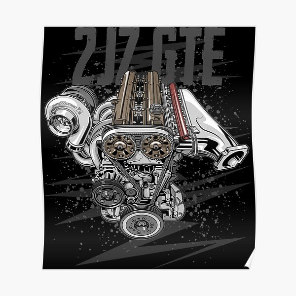 Toyota 2jz gte Engine Poster