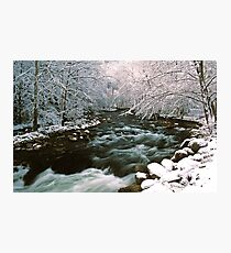 MIDDLE PRONG LITTLE RIVER,WINTER Photographic Print