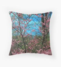 REDBUD TREE Throw Pillow