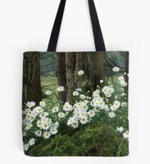 Sheltering daisies. Tote Bag