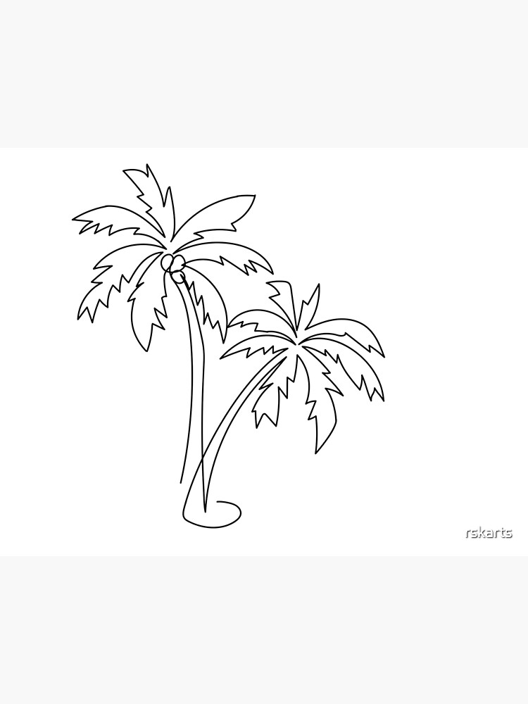 Palm tree continuous line drawing by rskarts