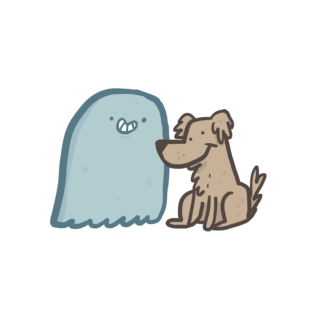 Ghost sticker 3- Dear Diary I'm dead by HeckIfIKnow