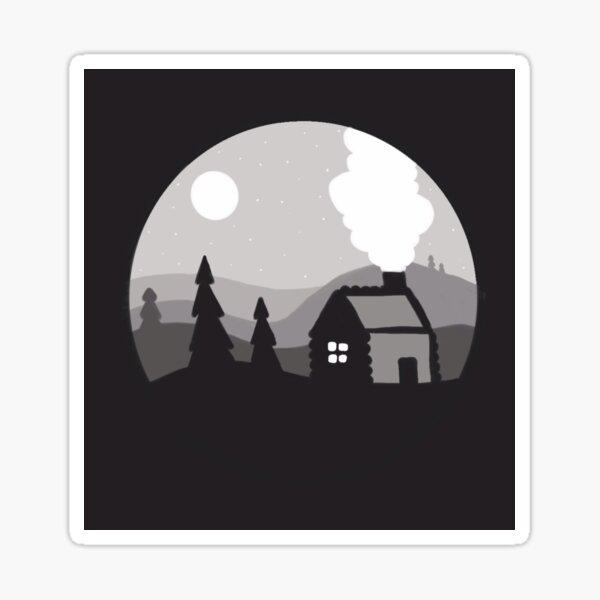 Cozy Cabin Sticker