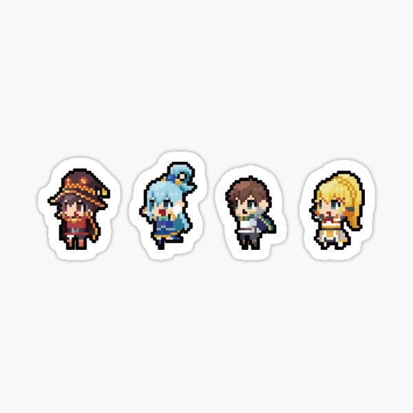 Isekai Quartet Konosuba Sticker