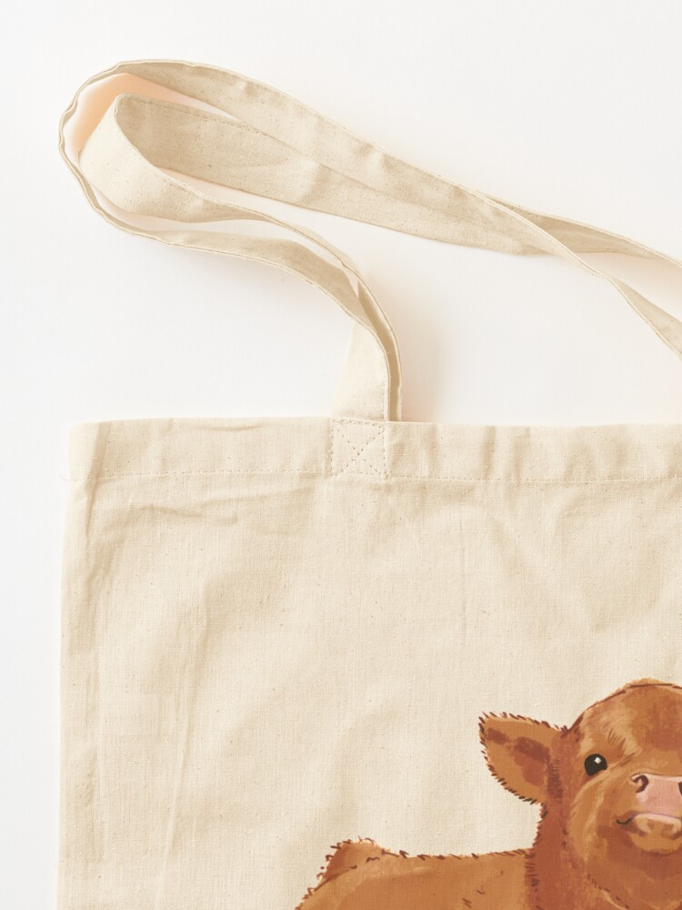 Alternate view of Baby Highland Cow Tote Bag