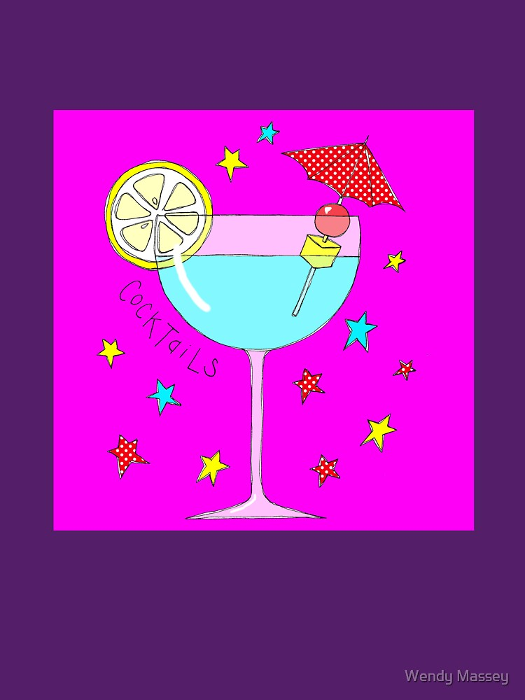 Pretty cocktail on bright pink by WendyMassey