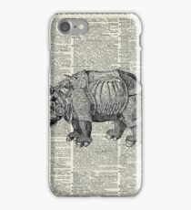 Fantasy steampunk Rhinoceros iPhone Case/Skin