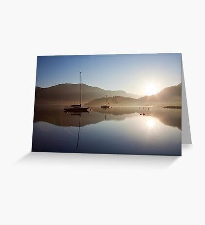 Glencoe, Scotland..with morning flare Greeting Card