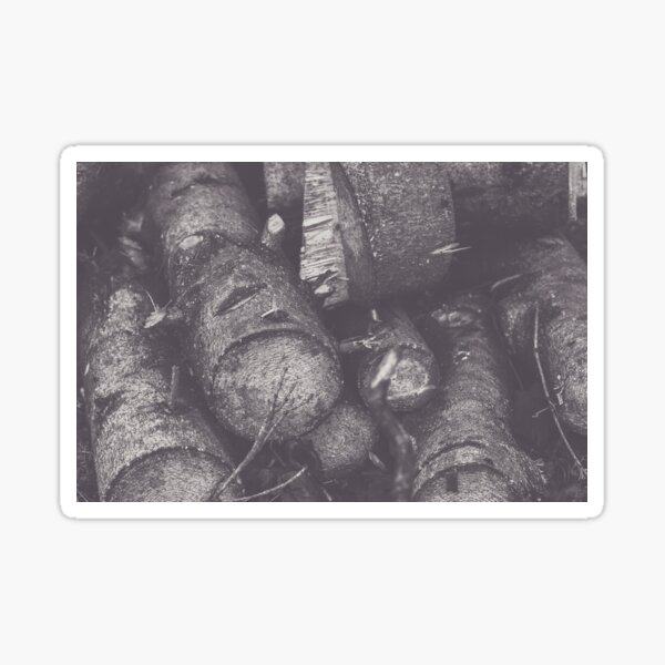 A pile of Logs Sticker