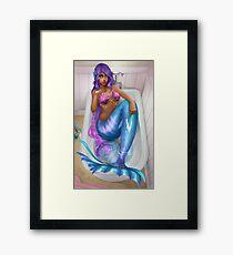 Silly Mermaid Framed Print