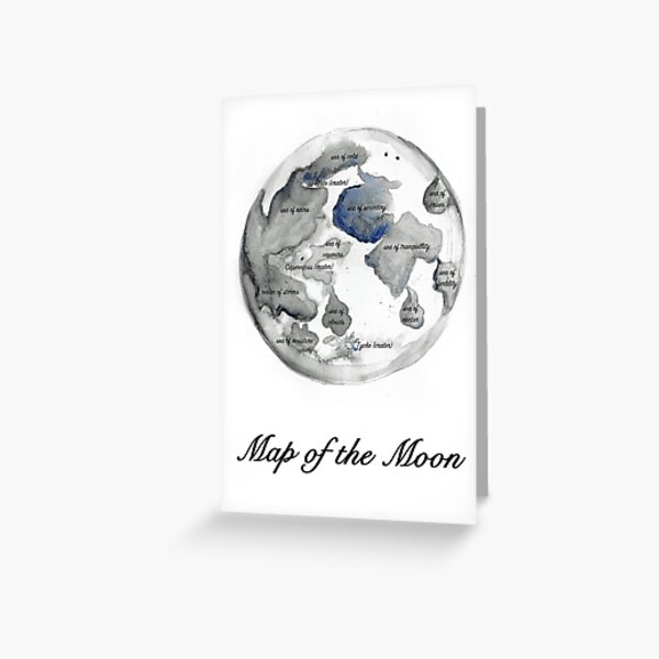 Map of the Moon Greeting Card