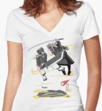 Final Samurai VII Women's Fitted V-Neck T-Shirt
