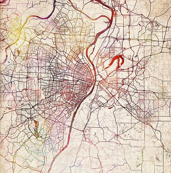 Saint Louis map by MapMapMaps