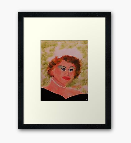 Self Portrait,, watercolor Framed Print