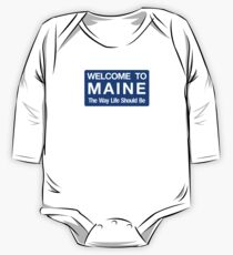 Welcome to Maine Road Sign One Piece - Long Sleeve