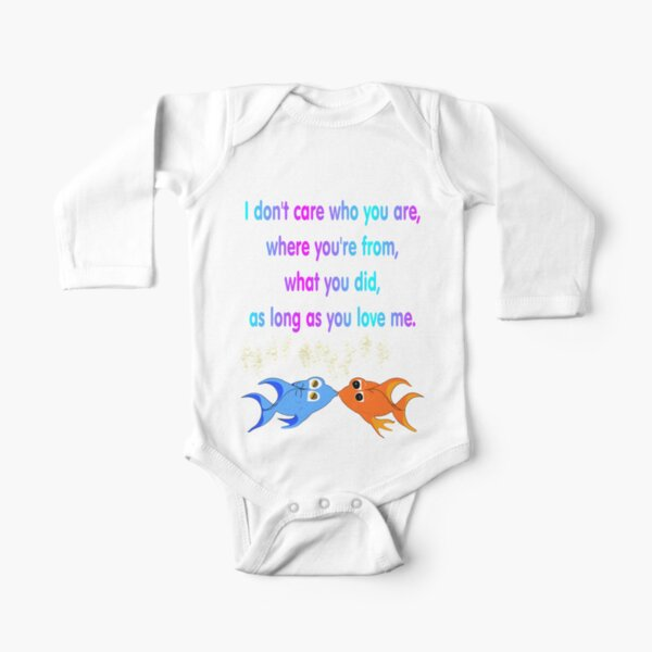 Kissing Fish Long Sleeve Baby One-Piece
