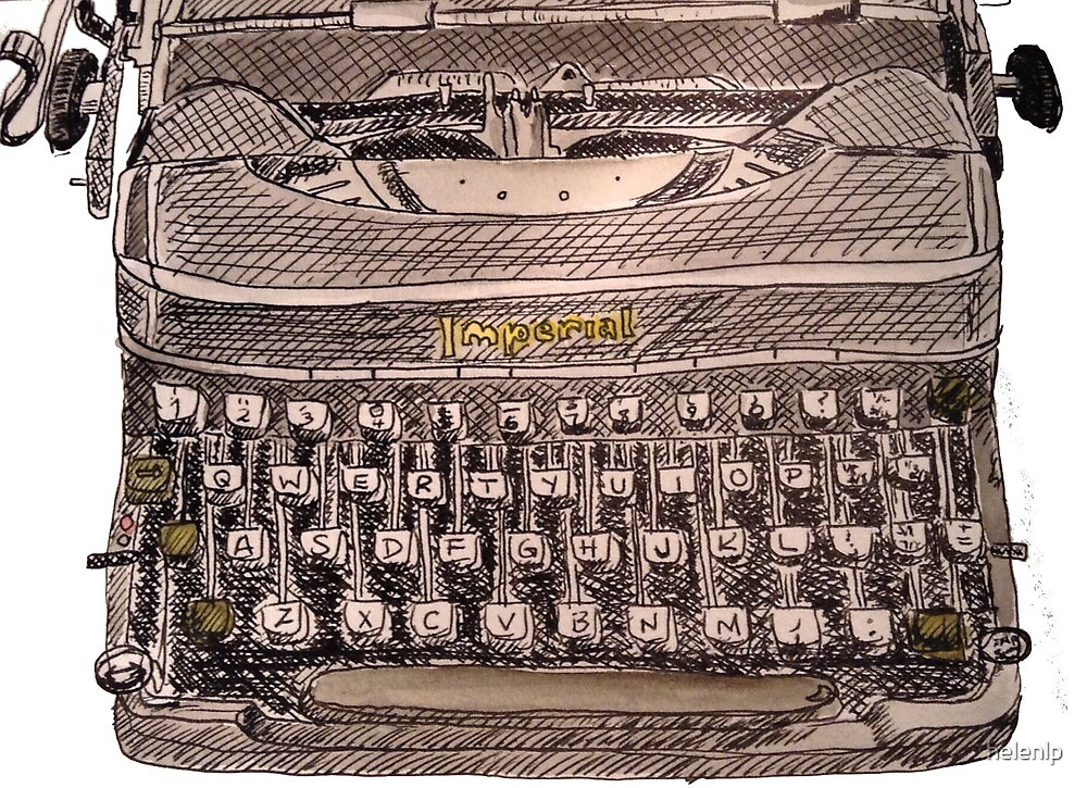 Hand drawn Imperial typewriter by helenlp