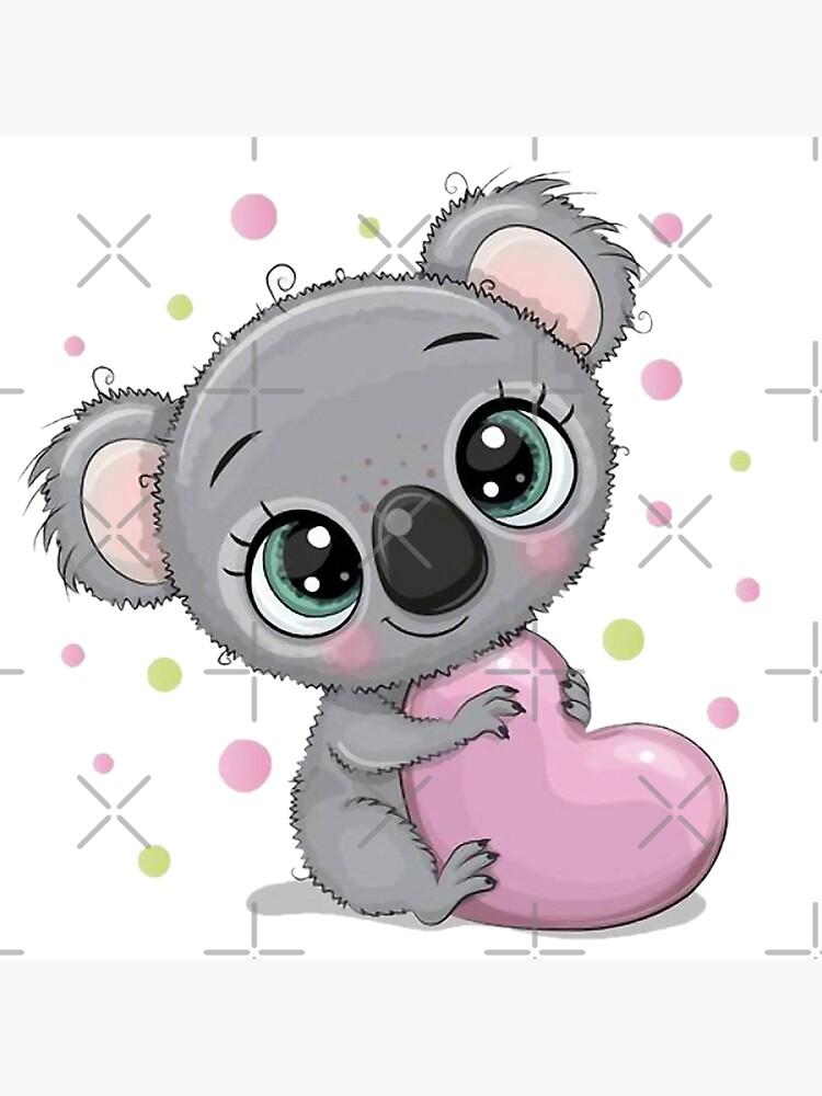 Lindo bebé koala con corazón de GabrielleChanel