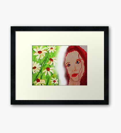 Revised in photshop , Carrie, watercolor Framed Print