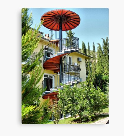 The Spiral Staircase . Canvas Print