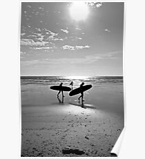"""""""Board at the beach, St Ouen's Bay, Jersey"""" Poster"""