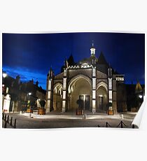 Beaune Basilica at Night Poster