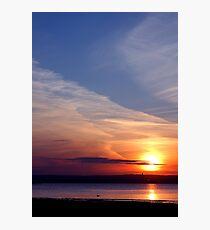 Ballyholme Sunset Photographic Print