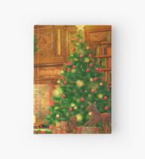 Christmas Fireplace Hardcover Journal