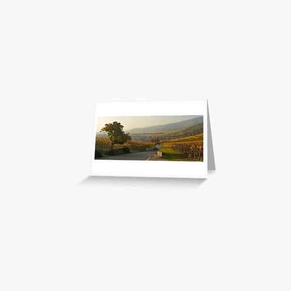 Vignoble de Kientzheim en automne  Carte de vœux