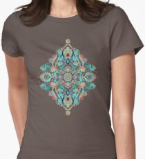 Modern Folk in Jewel Colors Womens Fitted T-Shirt
