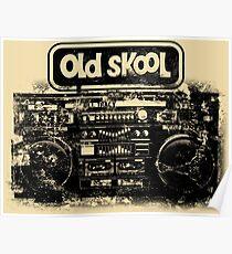 Old Skool Boombox Art Poster