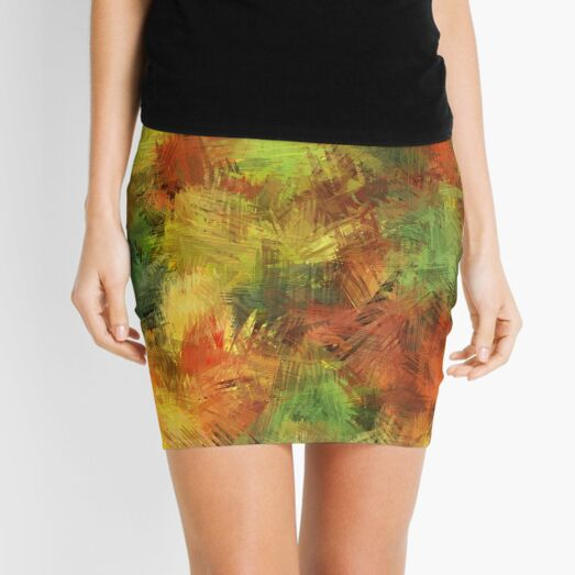 Autumn Leaves 08 Mini Skirt