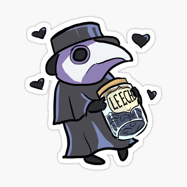 Cute Plague Doc with Leech Jar Sticker