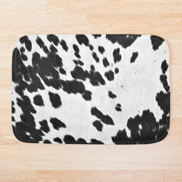 Cowhide Black and White 3 Bath Mat