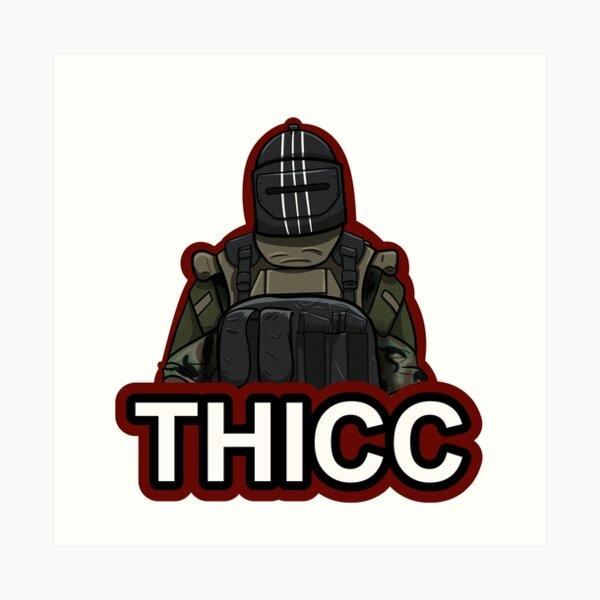 """THICC"" Graphic Logo Art Print"