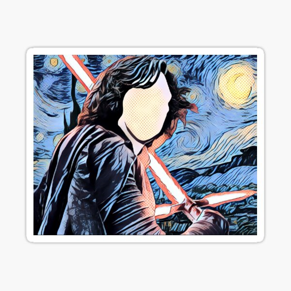 Kylo Starry Night Comic Book Sticker