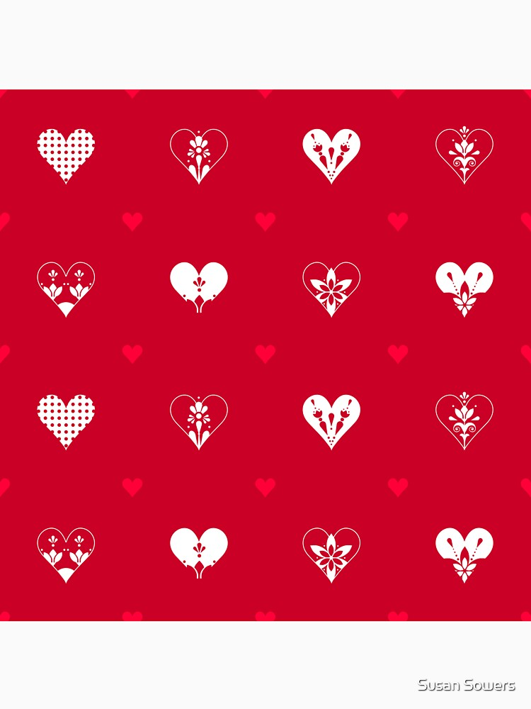 Valentines Day Hearts- Red by SSSowers