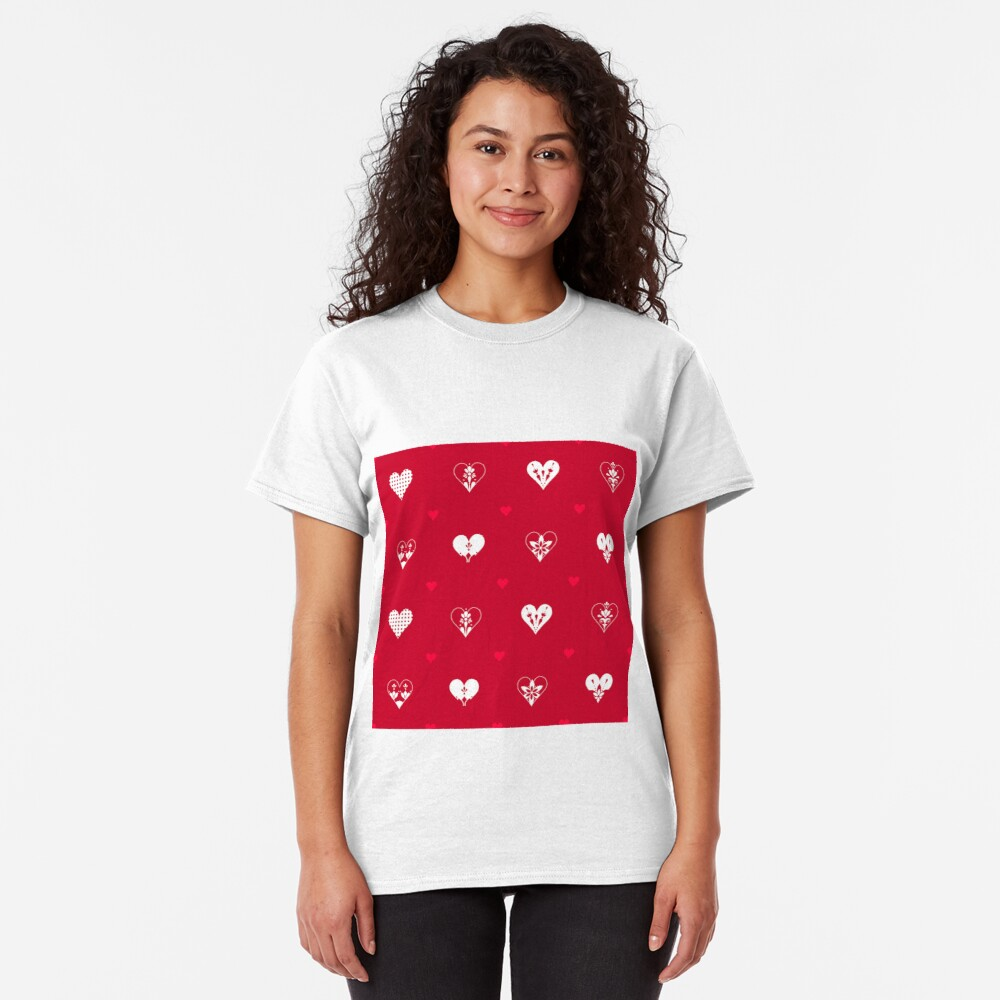 Valentines Day Hearts- Red Classic T-Shirt